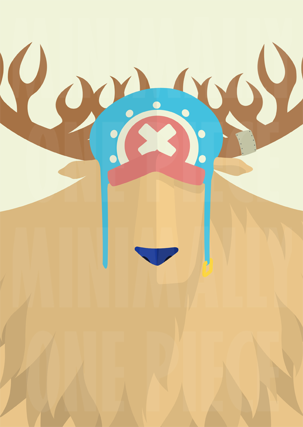 One piece minimalist poster monster chopper by for Minimalist art pieces