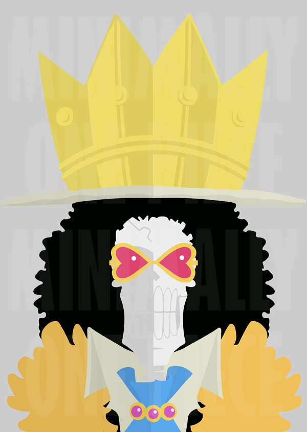 One piece minimalist poster soul king by for Minimalist art pieces