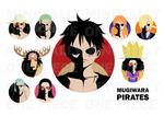 One Piece Minimalist Poster: Mugiwara Pirates