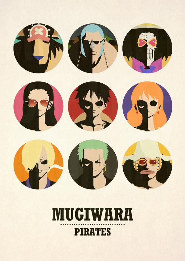 One Piece Minimalist Poster: Mugiwara Pirates v2 by MinimallyOnePiece