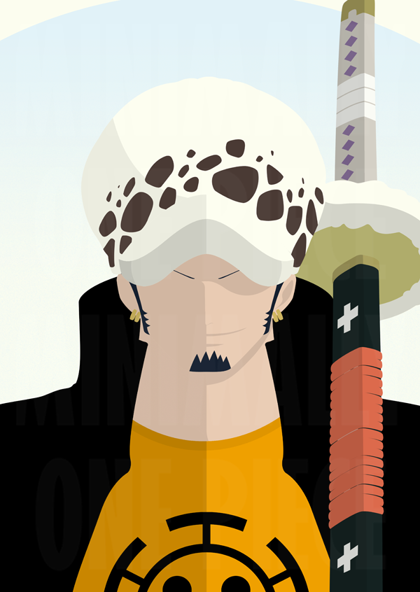 Trafalgar law by minimallyonepiece on deviantart for Minimalist art pieces