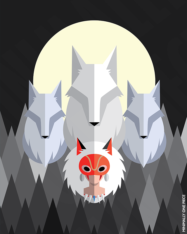 Princess Mononoke: San and the Wolves by MinimallyOnePiece
