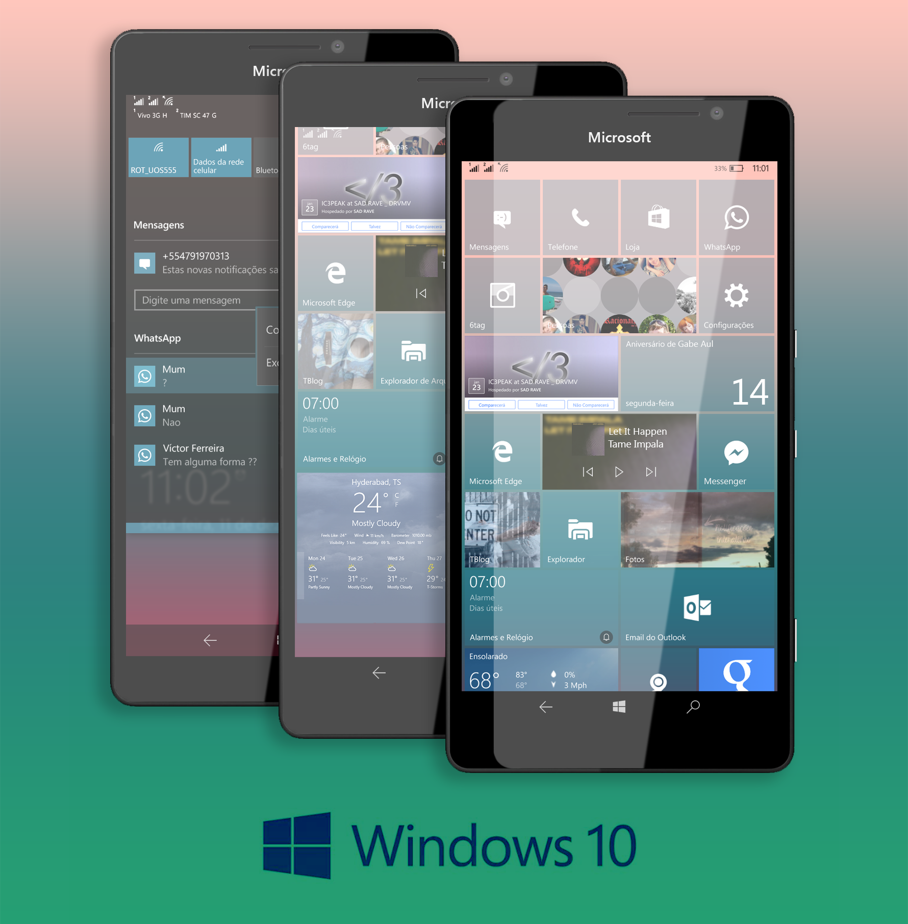 Windows 10 Mobile Concept New Features By AlexRDT On DeviantArt