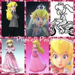 Princess Peach collage