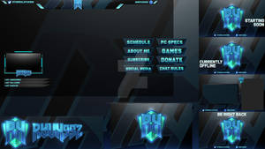Mascot Logo and Twitch Overlay Preview