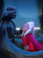 Darth Vader and Ahsoka Tano by MIKE00009