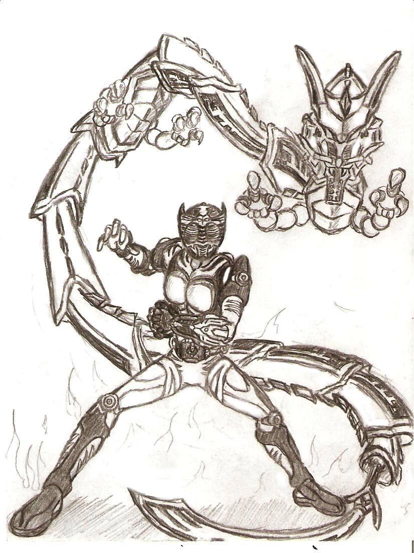 Kamen Rider Ryuki W.I.P by GrandZebulon on DeviantArt