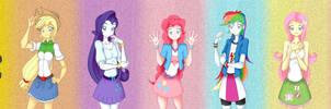 [Equestia Girls] Mane 7 (Sci Twi ver.)