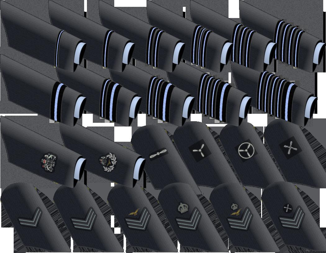 Royal Air Force Ranks by ChevronTango