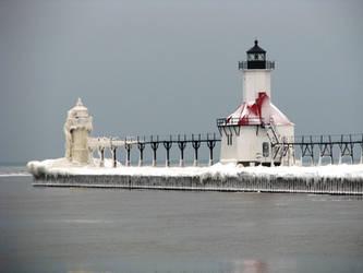 Icy Light House by BrwnEyedGirl