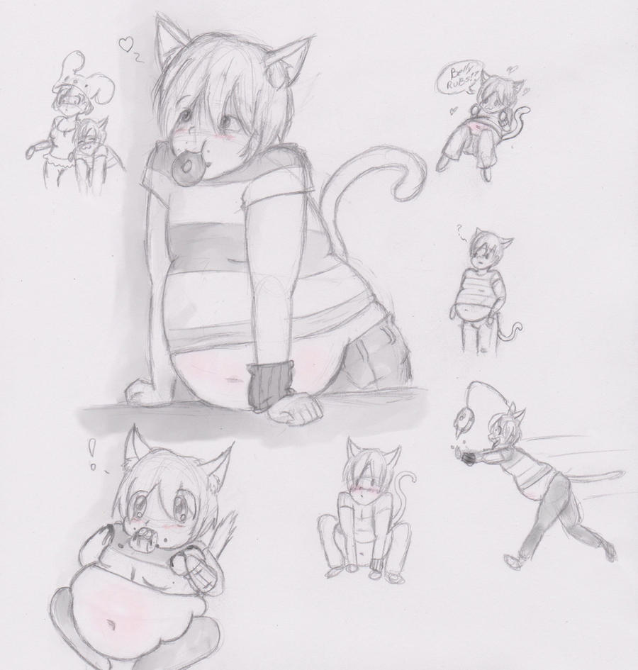 My pet kitty_sketch by ArtChick94