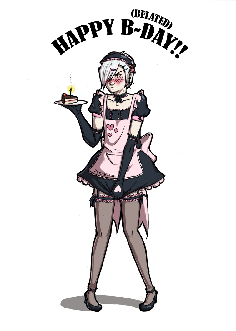 Birthday Gift: Mittens in a Maid Outfit by RamuGami on ... Парень в Костюме