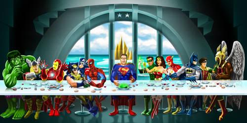 Superhero Last Supper