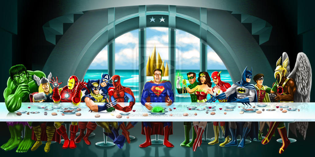 Superhero Last Supper By Luismhernandez-d5cbter by luismhernandez