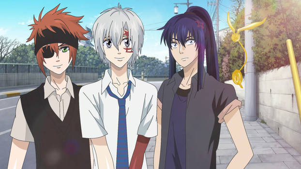 D.Gray-man/ Lavi, Allen Walker and Kanda Yuu