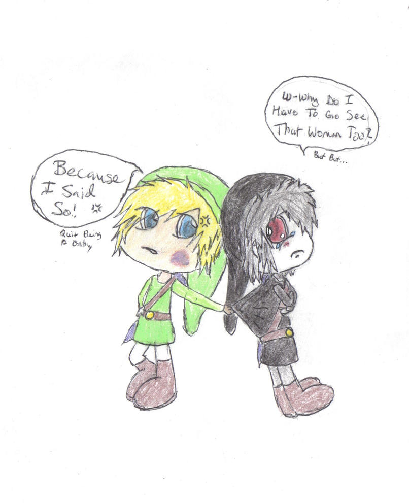 Chibi Link and Dark by ReinFalling