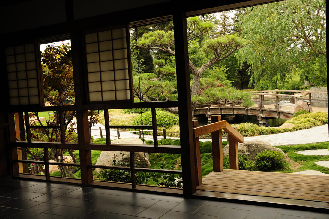 Japanese tea house window by andyserrano on deviantart for Japanese house garden