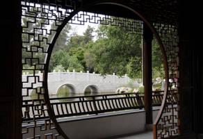 Bridge View from Pagoda Window by AndySerrano