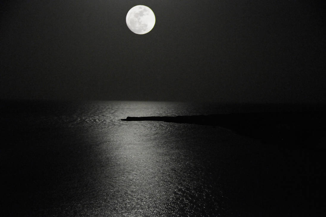 Rising Moon Over the Red Sea