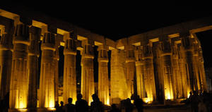 Temple of Luxor in Gold Light