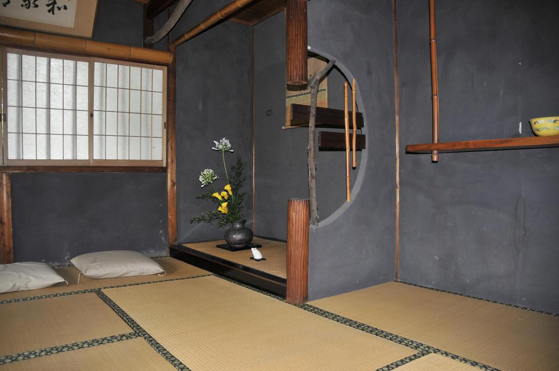 Japanese garden house interior by andyserrano on deviantart for Japanese garden inside house