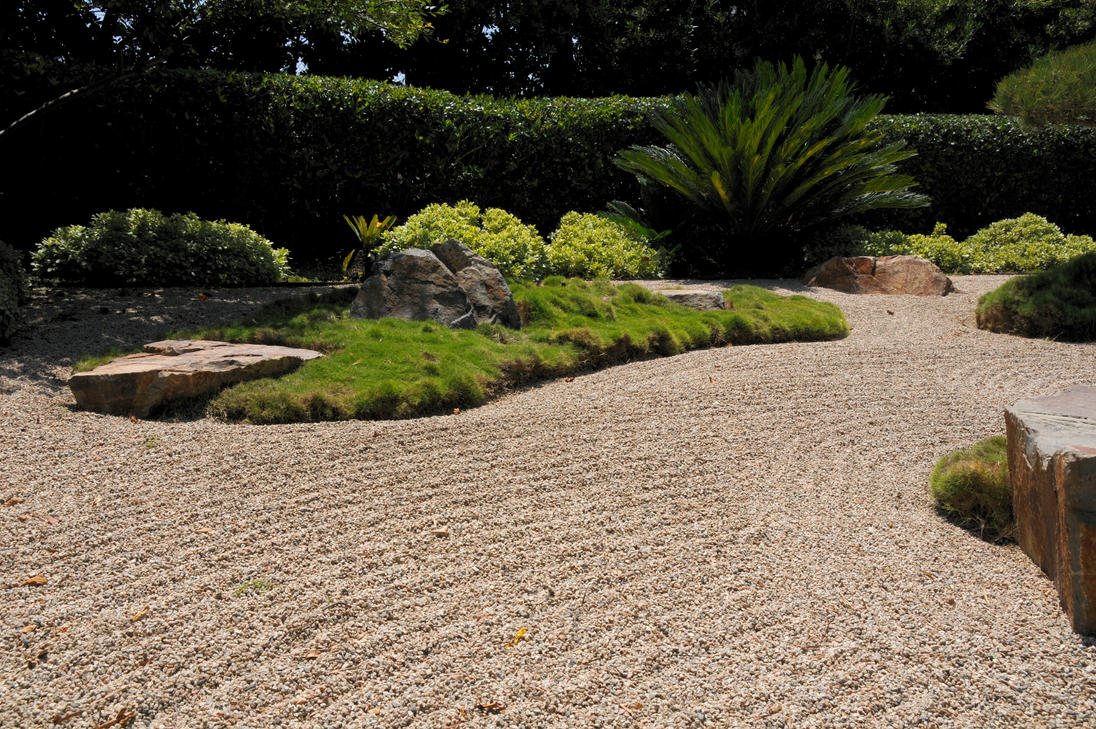 japanese garden raked gravel by andyserrano on deviantart