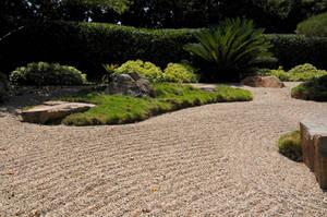 Japanese Garden Raked Gravel by AndySerrano