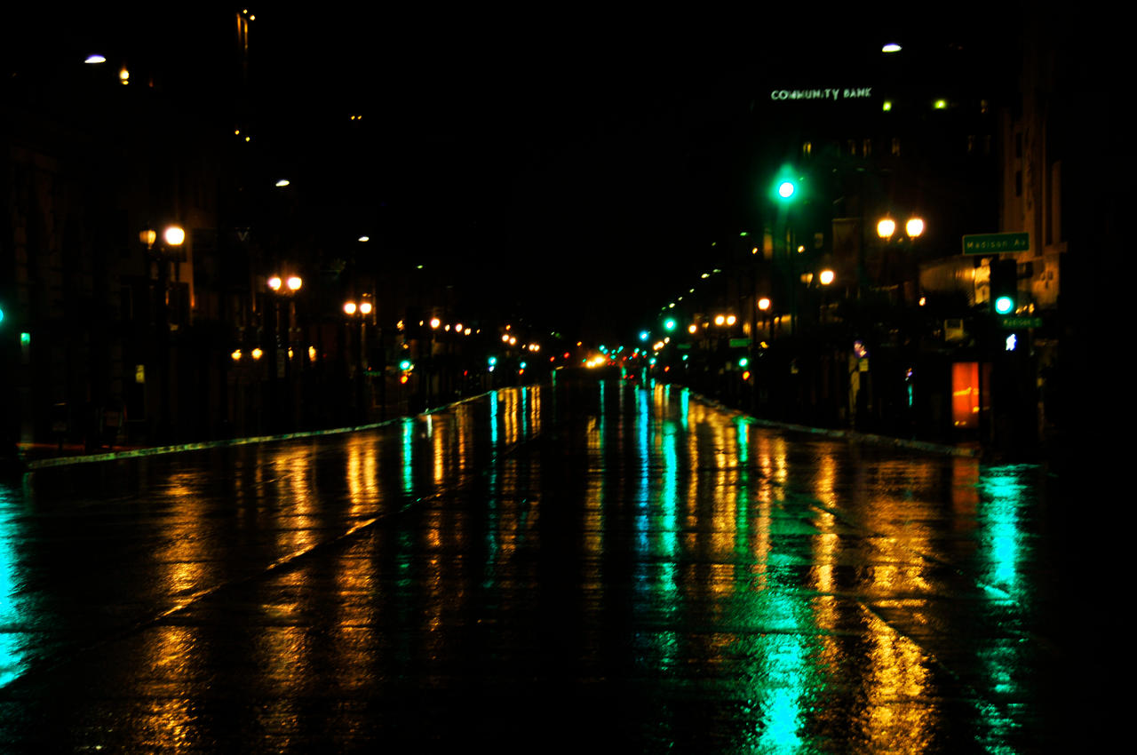 Reflections on a Rainy Night by AndySerrano on DeviantArt