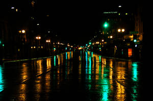 Reflections on a Rainy Night by AndySerrano