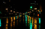 Reflections on a Rainy Night