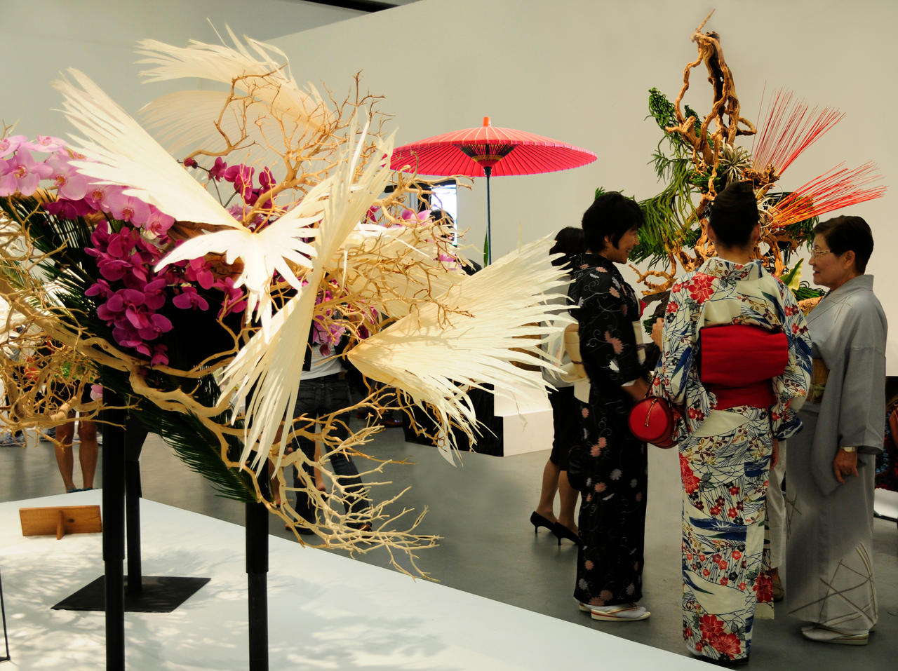 Ikebana, Umbrella, and Kimonos by AndySerrano