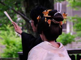 Kanzashi on Bride by AndySerrano