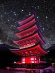 Gojnoto Pagoda at Night