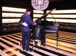 Halloween Piano Playing in Malaga Spain