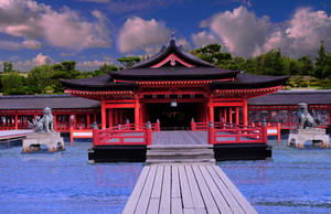 Itsukushima Shrine at High Tide by AndySerrano