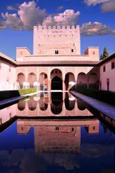 Nasarid Moorish Palace in Alhambra Spain by AndySerrano