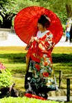 Lady with Kimono and Parasol