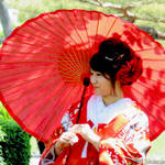 Lady with Kimono and Parasol 2