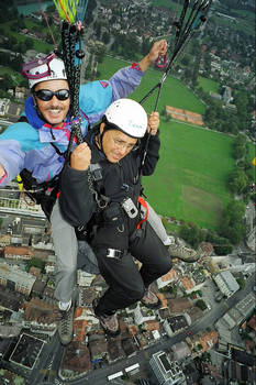 Andy paragliding over Switzerland