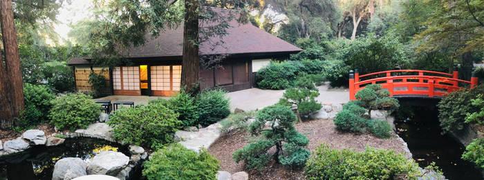 Japanese Garden Tea House and Bridge