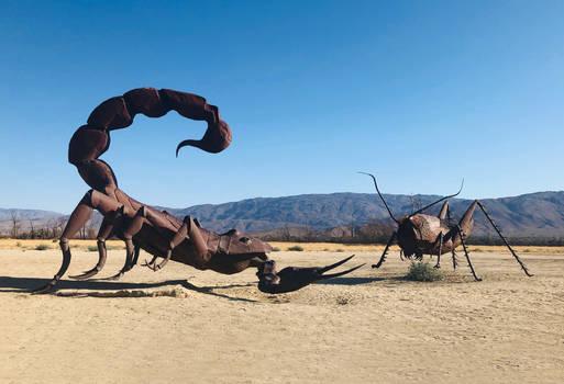 Scorpion vs Grasshopper