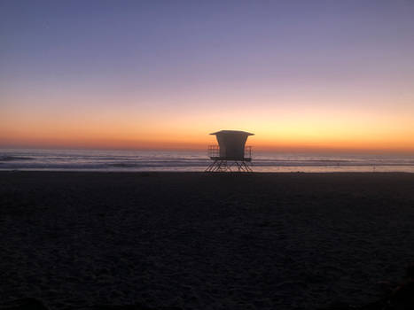 Lonely Lifeguard Tower