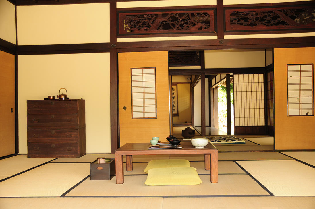 Japanese tea house interior - Japanese Tea House Interior