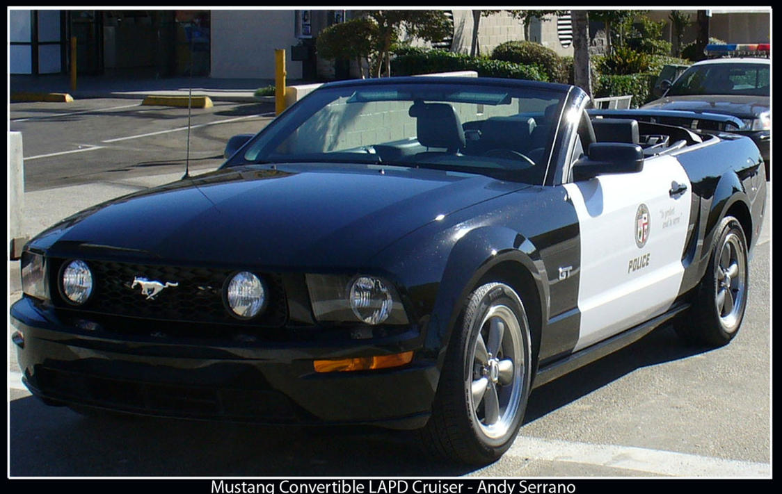 Mustang Convertible Lapd Car By Andyserrano On Deviantart
