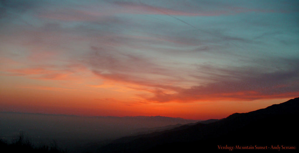 Verdugo Mountain Sunset by AndySerrano