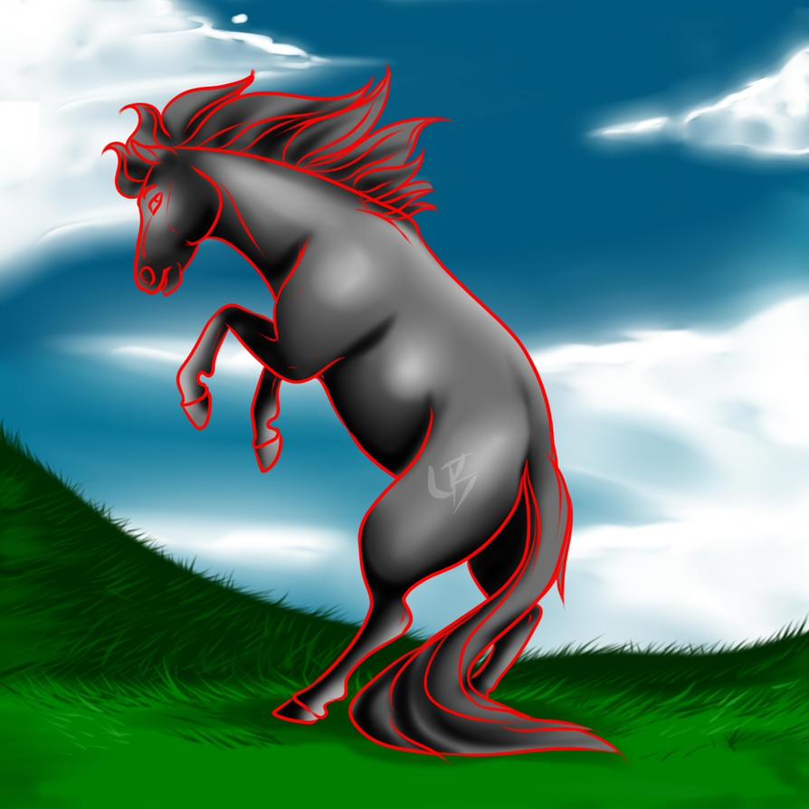 YCH buckin horse 1 SLOT OPEN by HotrodsImpulse