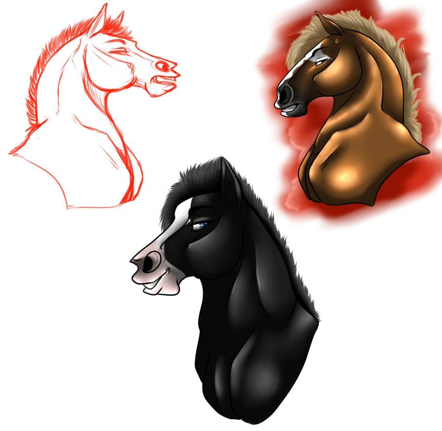 Horse Heads by HotrodsImpulse