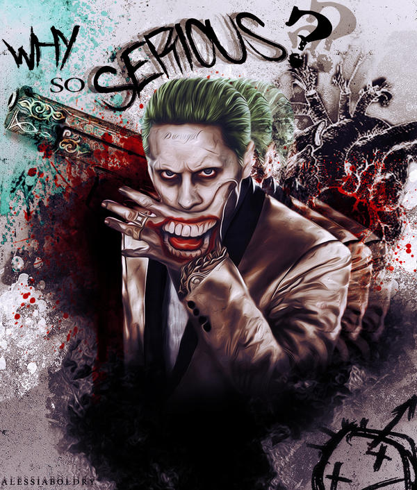 The Joker - Why so serious? by AlessiaBoldry on DeviantArt  The Joker - Why...