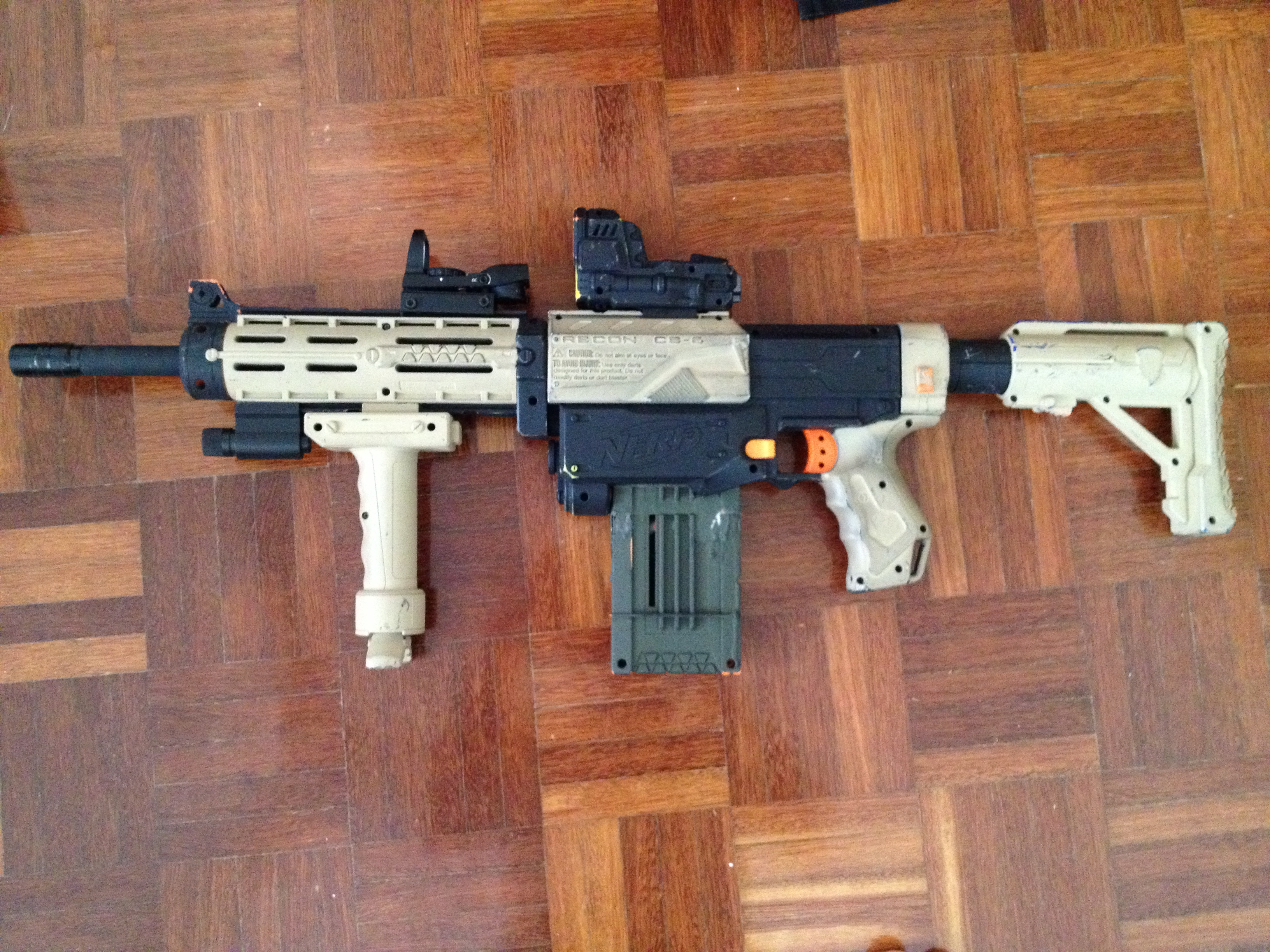 Nerf Recon M4 Sand by srsim2