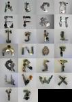Alphabet Sculpture Project